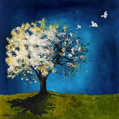 Painting - Daydream in Blue by Nancy Hilliard Joyce