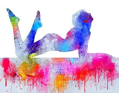 Digital Art - Daydream - Watercolor Nude by Marianna Mills