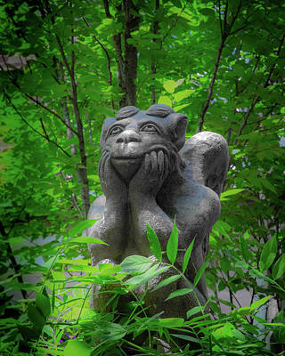 Daydreaming Gargoyle Art Print