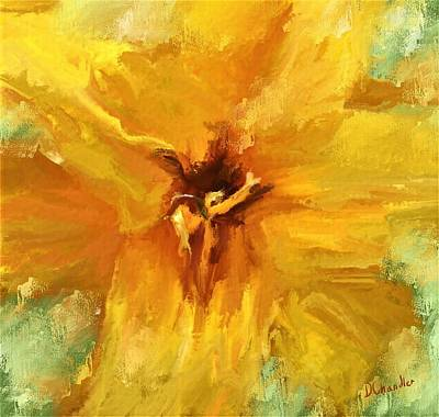 Digital Art - Daylily Gold by Diane Chandler