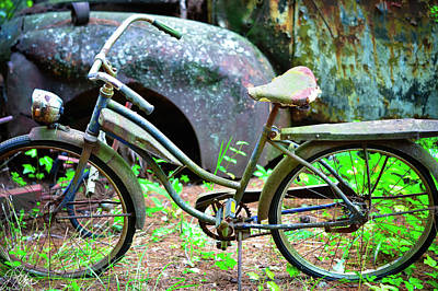 Wall Art - Photograph - Days Gone By - Bicycle 3 by James Fisher