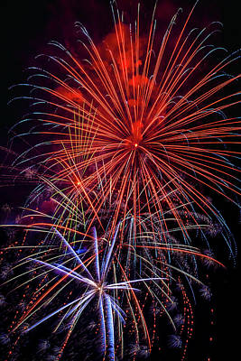 Photograph - Dazzling Bright Fireworks by Garry Gay