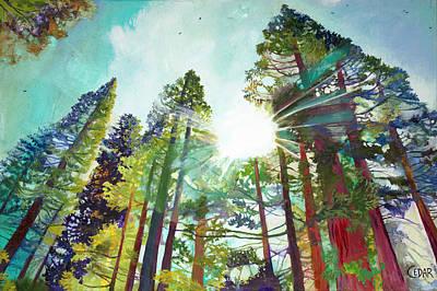 Painting - Dazzling Sky by Cedar Lee