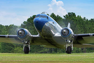 Photograph - Dc-3 Runup by Chris Buff
