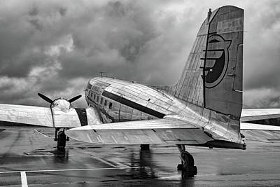 Photograph - Dc-3 Under A Stormy Sky by Chris Buff