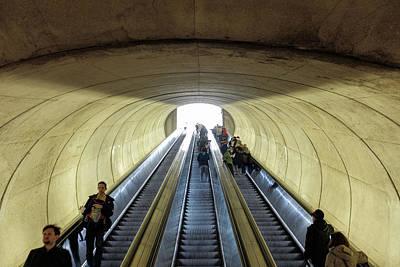 Photograph - Dc Metro Escalator by Doug Ash