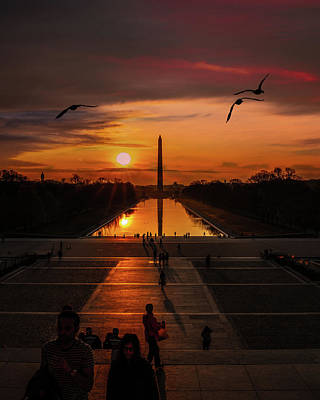 Photograph - Dc Sunrise by Chris Lord