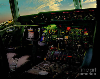 Photograph - Dc10 Cockpit Left Hand Seat 521210021 by Tom Jelen