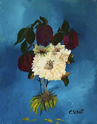 Painting - Dead Flowers Are Pretty Too by Christina Schott