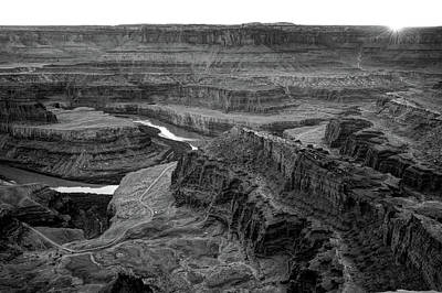 Photograph - Dead Horse Point State Park Monochrome Landscape by Gregory Ballos