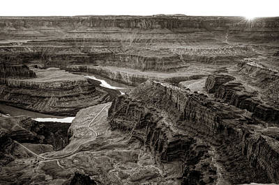 Photograph - Dead Horse Point State Park Sepia Landscape by Gregory Ballos