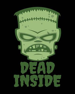 Digital Art - Dead Inside Frankenstein Monster by John Schwegel