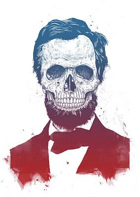 Drawing - Dead Lincoln by Balazs Solti