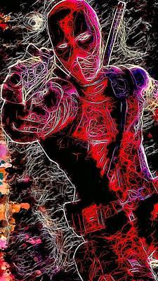 Mixed Media - Deadpool by Matra Art