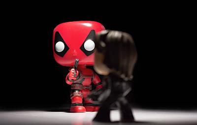 Photograph - Deadpool Vs Bucky by Scott Lyons