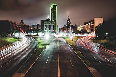 Photograph - Dealey Plaza Skyline - Dallas Texas by Gregory Ballos