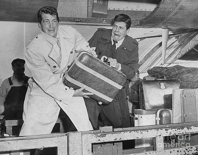 Photograph - Dean Martin And Jerry Lewis Arriving At by New York Daily News Archive