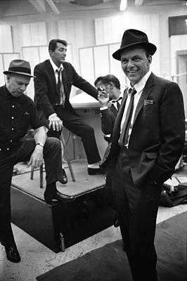 Photograph - Dean Martinsammy Jr. Davisfrank Sinatra by Gjon Mili