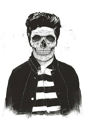 Drawing - Death Fashion by Balazs Solti