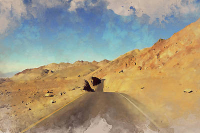 Roaring Red - Death Valley - 02 by AM FineArtPrints