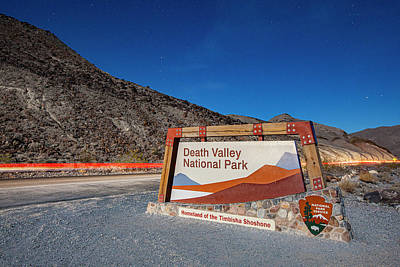 Photograph - Death Valley Entrance at Night by Al Hann