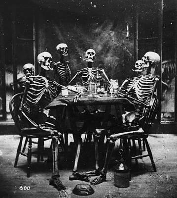 Photograph - Deathly Diners by London Stereoscopic Company