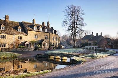 Photograph - December Frost Lower Slaughter by Tim Gainey
