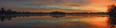 Photograph - December Sunrise Over Spring Lake by Beth Sawickie