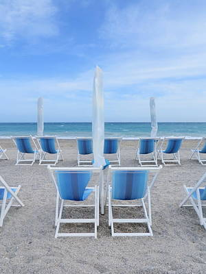 Lounge Chair Photograph - Deck Chairs by Rolfo