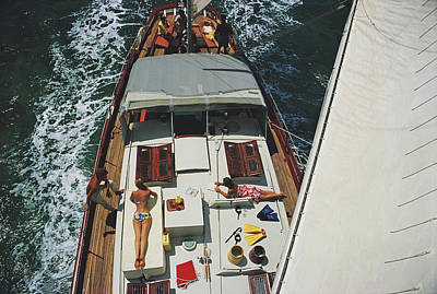 Photograph - Deck Dwellers by Slim Aarons