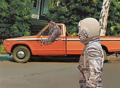 Painting - Decline Of The Planet Of The Apes by Scott Listfield