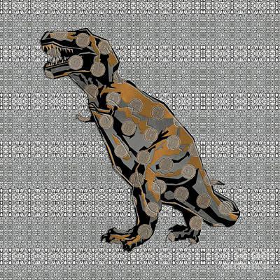 Digital Art - Deco Dino by Diego Taborda