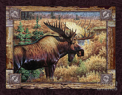Moose Wall Art - Painting - Deco Moose by Cynthie Fisher