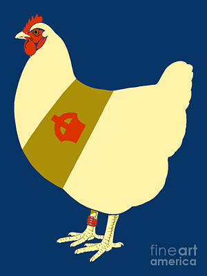 Drawing -  Decorated War Chicken by Aapshop