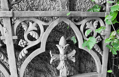 Photograph - Decorative Ironwork IIi by Helen Northcott
