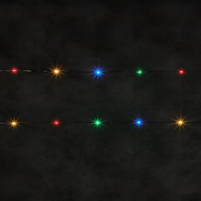 Painting - Decorative String Lights On Black Background by Taiche Acrylic Art