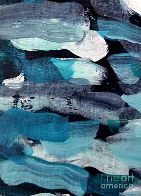 Painting - Deep Blue #1 by Maria Langgle
