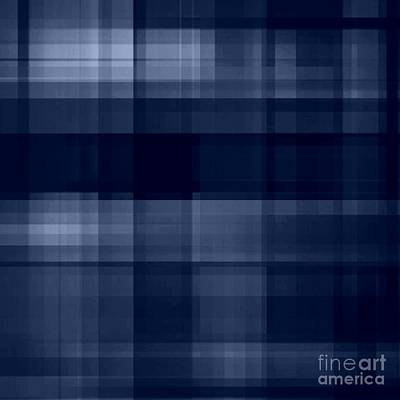 Digital Art - Deep Blue Plaid by Rachel Hannah
