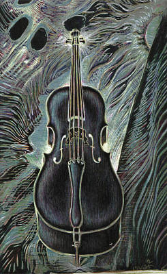 Deep Cello Art Print