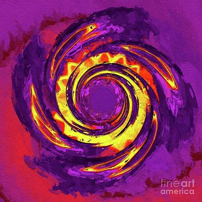 Royalty-Free and Rights-Managed Images - Deep Purple. Abstract Art by Tito by Esoterica Art Agency
