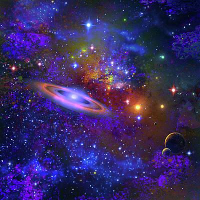 Digital Art - Deep Space Drifting by Don White Artdreamer