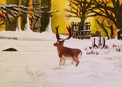 Soap Suds - Deer by the Golden Sky by Christy Saunders Church