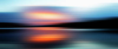 Photograph - Defocused View Of Sunset Over Lake by Studio Parris Wakefield