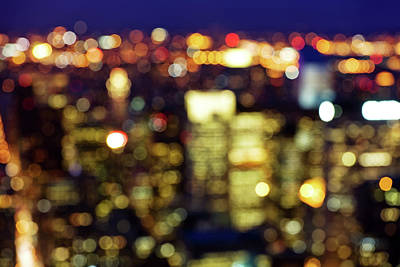 Photograph - Defocussed City Lights by Nikada