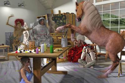Surrealism Digital Art - Deliberation by Betsy Knapp