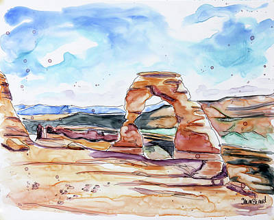 Painting - Delicate Arch  by Shaina Stinard