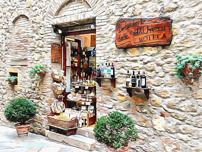 Photograph - Delicatessen Pienza Tuscany by Dorothy Berry-Lound