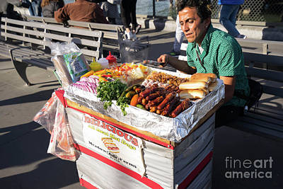 Photograph - Delicious All Meat Hot Dog Street Food Vendor Dsc6799 by Wingsdomain Art and Photography