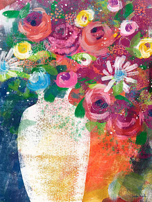 Mixed Media - Delightful Bouquet 2- Art By Linda Woods by Linda Woods
