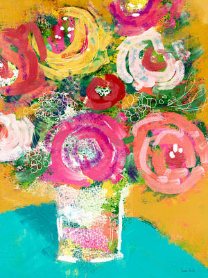 Mixed Media - Delightful Bouquet 4- Art By Linda Woods by Linda Woods